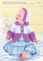 Sirdar Snuggly Snowflake DK - 4544 Cardigan and Bonnet Knitting Pattern